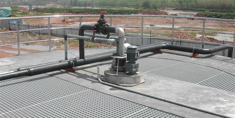河南平台钢格板安装实例